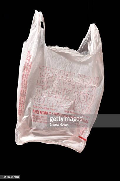Plastic Shopping Bag Says 'Thank You' in Multiple Languages.