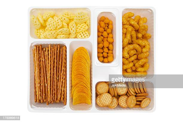 plastic snack box - cracker snack stock photos and pictures