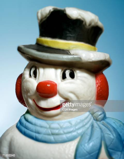 plastic snowman decoration - image stock pictures, royalty-free photos & images