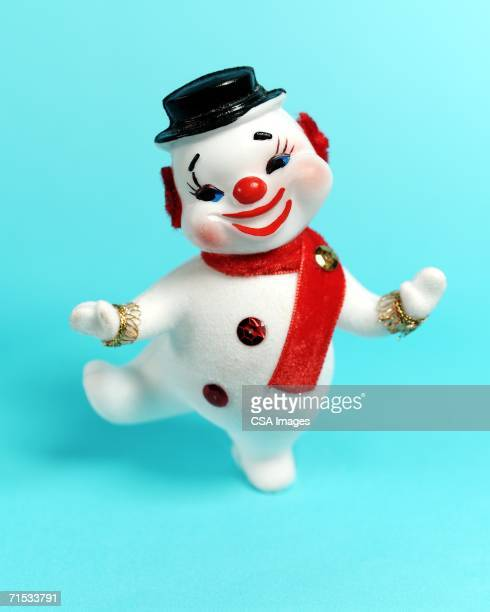 plastic snowman - kitsch stock pictures, royalty-free photos & images