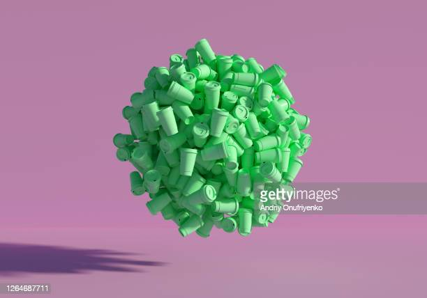 plastic sphere - sustainability stock pictures, royalty-free photos & images