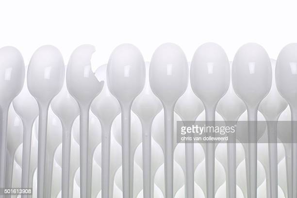 plastic spoons