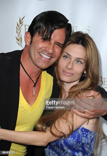 Plastic surgeon Robert M Rey and Hayley Rey arrive at the 10th Annual Beverly Hills Film Festival Opening Night at the Clarity Theater on April 14...