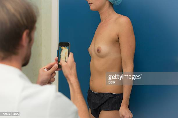 Plastic Surgery on Breast Mozart Plastic Surgery clinic in Nice Insertion of breast implants via the armpit in a patient who has no mammary glands...