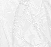 Plastic texture of clear wrinkled plastic
