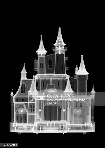 plastic toy castle, x-ray - radiogram photographic image stock pictures, royalty-free photos & images