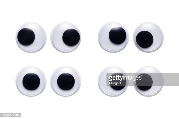 plastic toy googly eyes - miragec stock pictures, royalty-free photos & images