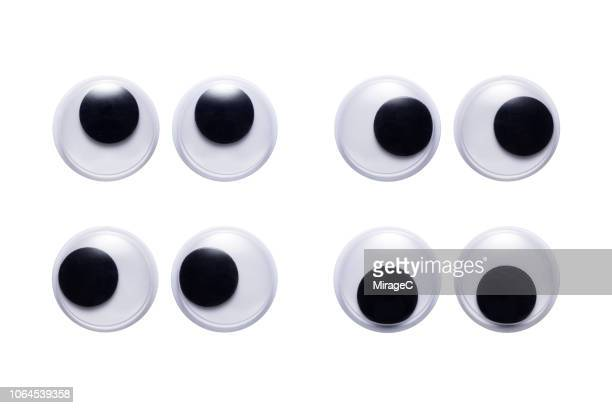 plastic toy googly eyes - animation stock pictures, royalty-free photos & images