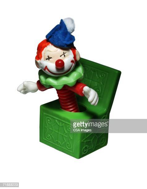 plastic toy jack-in-the-box - jack in the box stock photos and pictures