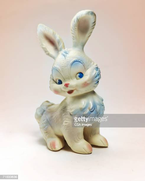 plastic toy rabbit - kitsch stock pictures, royalty-free photos & images