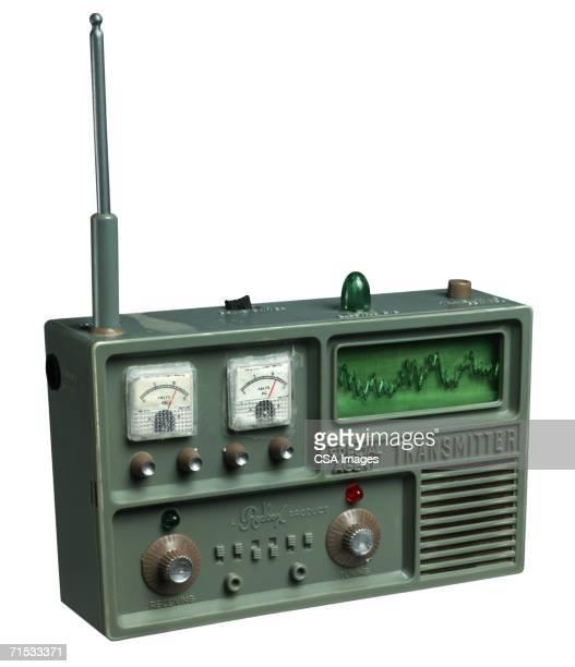 plastic toy radio transmitter - global radio studios stock photos and pictures