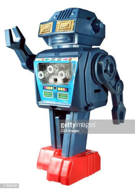 plastic toy robot - toy stock pictures, royalty-free photos & images