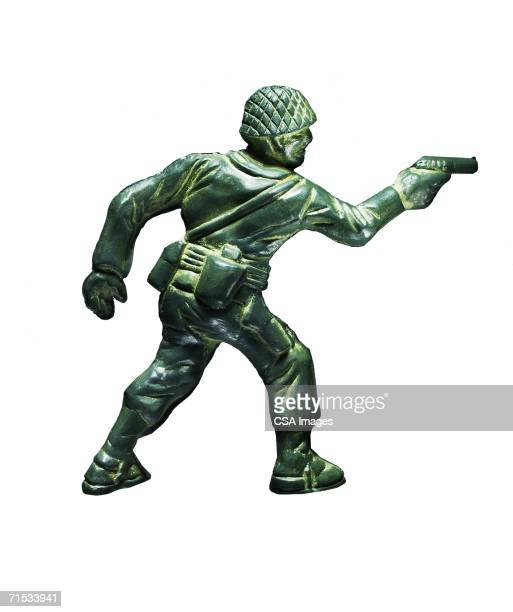 plastic toy soldier - army soldier toy stock pictures, royalty-free photos & images