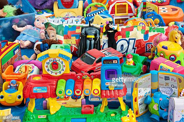 plastic toys - flea market stock pictures, royalty-free photos & images