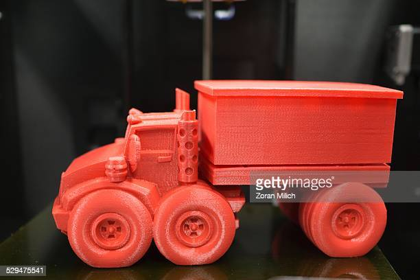 A plastic truck made with a 3D printer