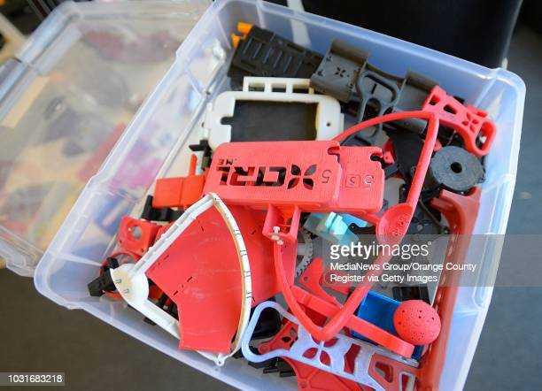 Plastic UAV parts printed on a MakerBot printer at the Venice headquarters of Ctrl Me in Venice. These guys are drone enthusiasts who make the...