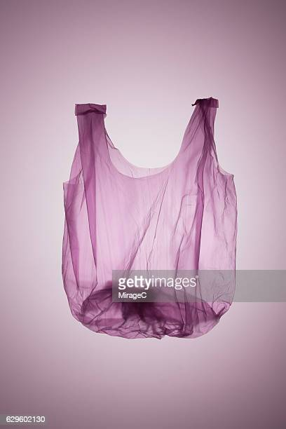 Plastic Vest Bag in Pink Color