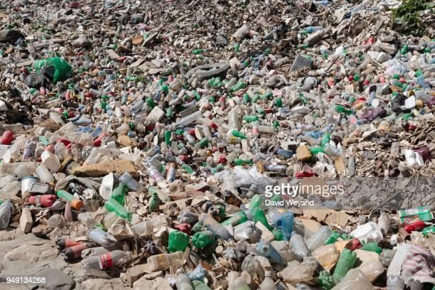 Plastic waste, plastic bottle, street garbage, Port-au-Prince, Ouest, Haiti