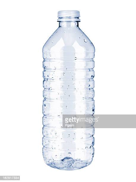 plastic water bottle - fles stockfoto's en -beelden