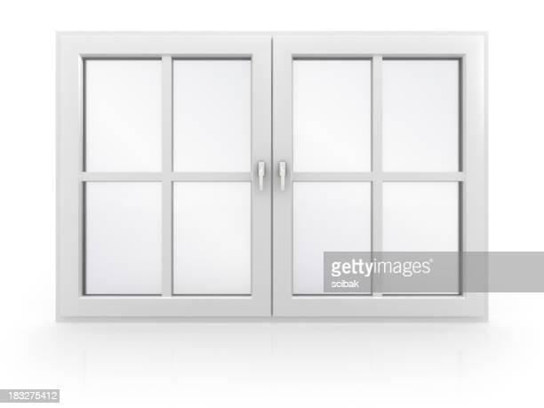 plastic white window