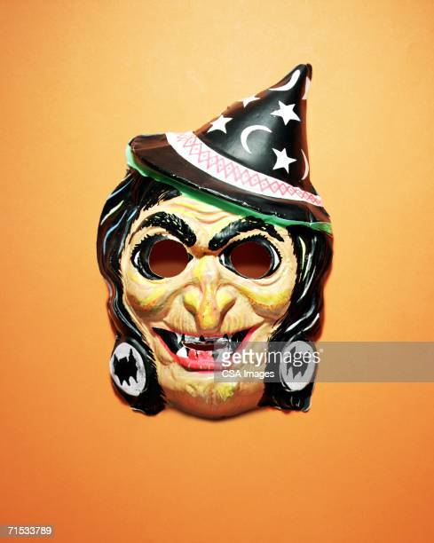 plastic witch mask - ugly witches stock photos and pictures