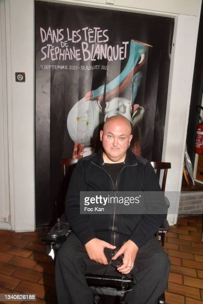 "Plastician/cartoonist Stephane Blanquet attend ""Le Cinema De Benoit Delepine Et Gustave Kervern"" Book Signing Party At Halle Saint Pierre on..."