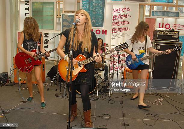 Plastiscines perform at Nylon Magazine and Urban Outfitters party in New York City on September 6 2007