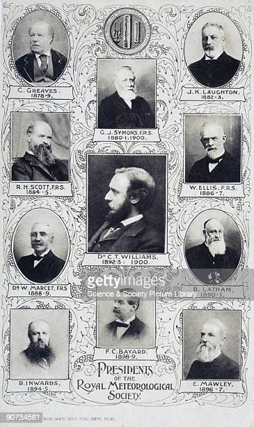 Plate 11 from the 'Quarterly Journal of the Royal Meteorological Society', volume 26, 1900. Presidents featured: C Greaves , G J Symons , J K...