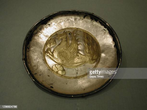 Plate, 19th century, Attributed to England, Birmingham, Plated base metal, Diam. 10 3/4 in. , Reproductions, Elkington & Co. .