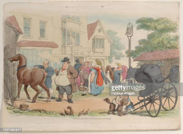 """Plate 27, from """"World in Miniature"""", 1816. Artist Thomas Rowlandson."""