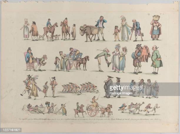 Plate 6 Outlines of Figures Landscapes and Cattlefor the Use of Learners June 20 1790 Artist Thomas Rowlandson