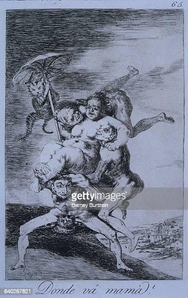 Plate 65 from Goya's series of 'Los Caprichos'