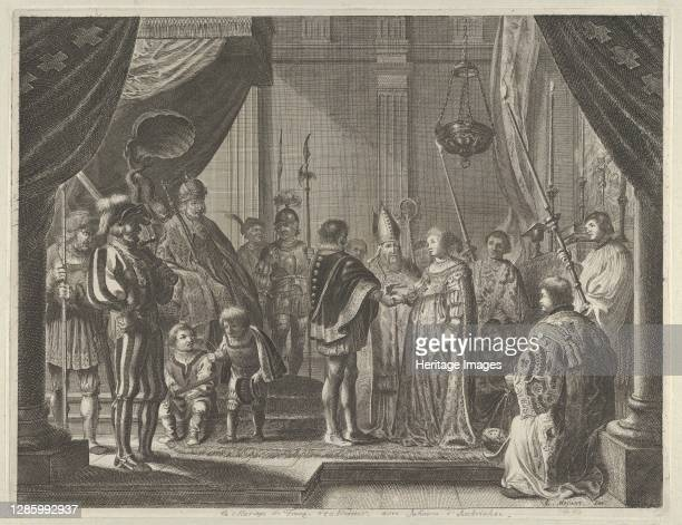 "The Marriage of Francisco I de Medici and Johanna of Austria, from Caspar Barlaeus, ""Medicea Hospes"", 1638. Artist Pieter Nolpe."