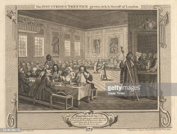 Plate 8, The Industrious 'Prentice Grown Rich and Sheriff of London, Print made by William Hogarth, 1697–1764, British, After William Hogarth,...