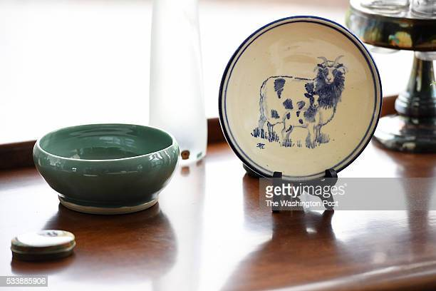 A plate adorned with Jacob sheep is seen at the home of Fred and Joan Horak on Wednesday May 11 2016 in Gettysburg PA Ever since they noticed...