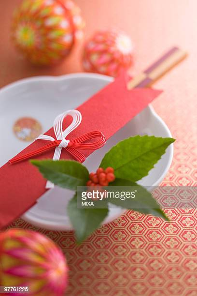 Plate and chopsticks