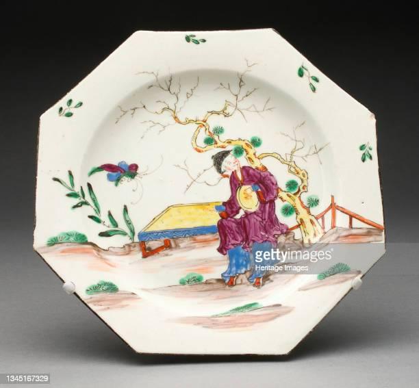 Plate, Bow, 1760/70. Artist Bow Porcelain Factory.