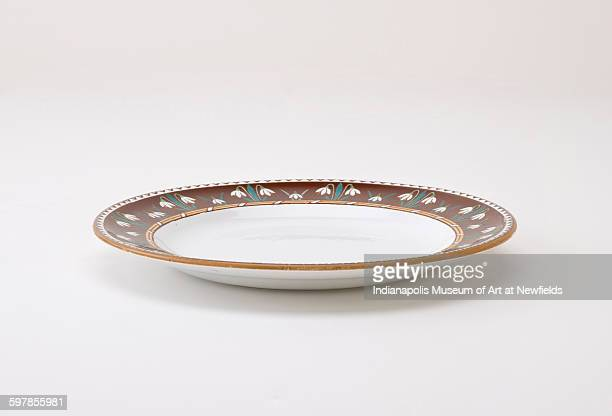Plate by British designer Augustus Welby Northmore Pugin about 1850 Gift of Rosemarie Haag Bletter and Martin Filler