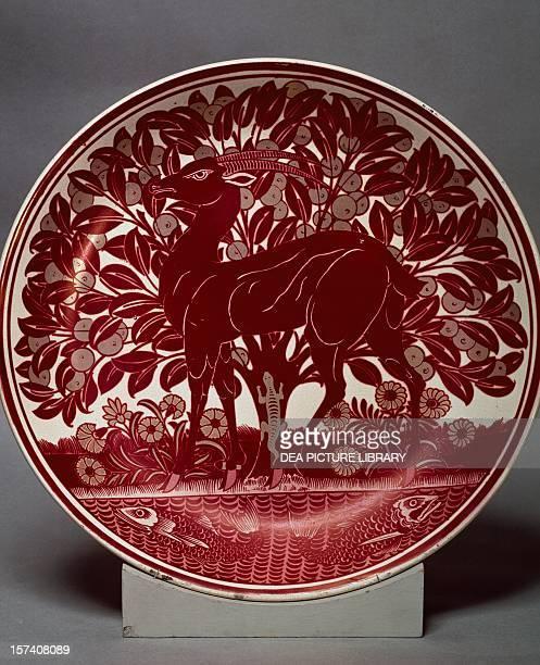 Plate by William de Morgan ceramic England 19th century London Victoria And Albert Museum