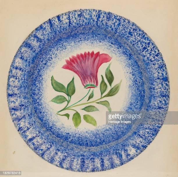 Plate, circa 1936. Artist Albert Eyth.