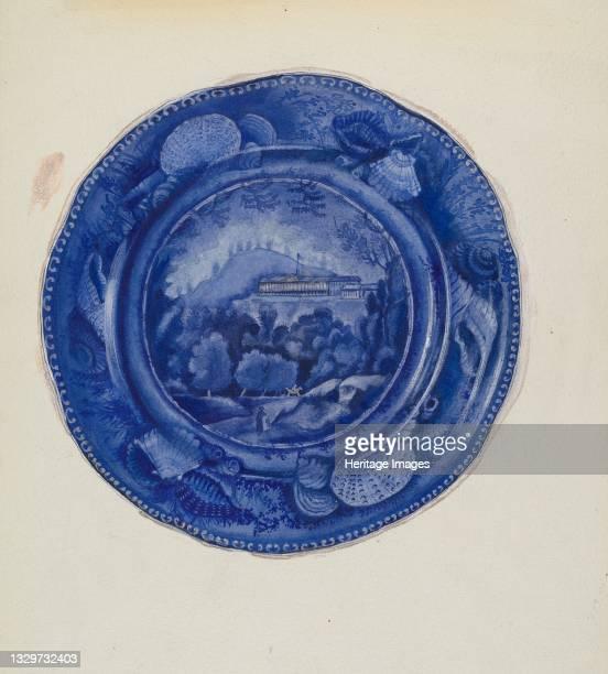 Plate, circa 1936. Artist Beverly Chichester.