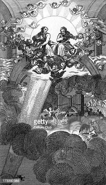 Plate from Milton by William Hogarth Engraved by Thomas Cook John Milton composed the epic poem Paradise Lost here Hogarth depicts the fall of...