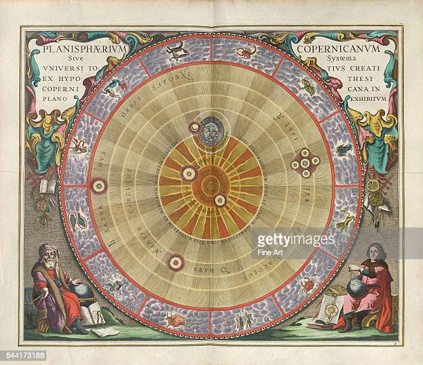 A plate from the cosmographical atlas Harmonia Macrocosmica by Andreas Cellarius The planisphere of Copernicus or the system of the entire created...