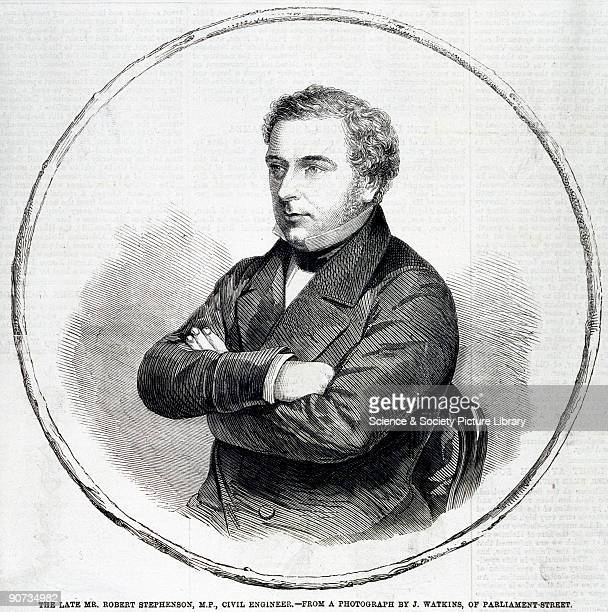 Plate from the 'Illustrated London News' in 1859 based on a photograph by John Watkins Robert Stephenson was an engineer and the son of George...