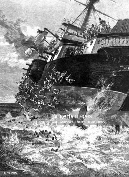 Plate from the Illustrated London News Vice Admiral Sir George Tryon Commander of the British Mediterranean Fleet in 1893 had instructed the ships...