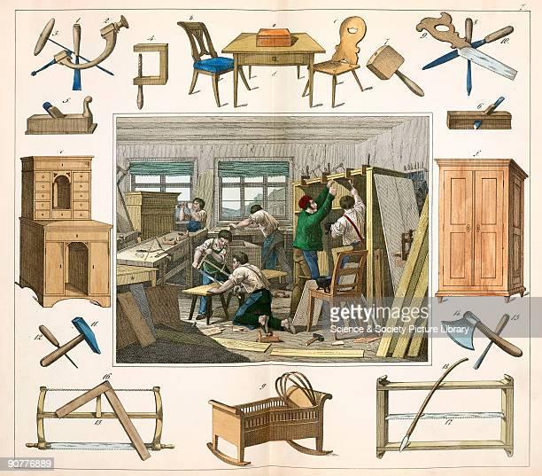 A plate from �Twintig plaaten voorstellende de werkplaatsen benevens de voornaamste werktuigen en voortbrengselen van twintig verschillende...
