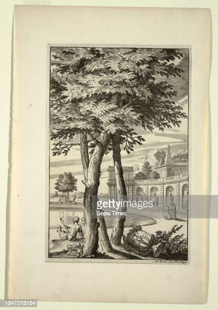 Plate in Nouveaux Livre de Paysages , Daniel Marot, French, active in the Netherlands and England, 1661–1752, Etching and engraving on white laid...