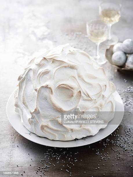 Plate of baked Alaska