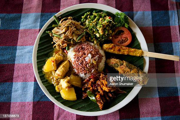 Plate of Balinese food