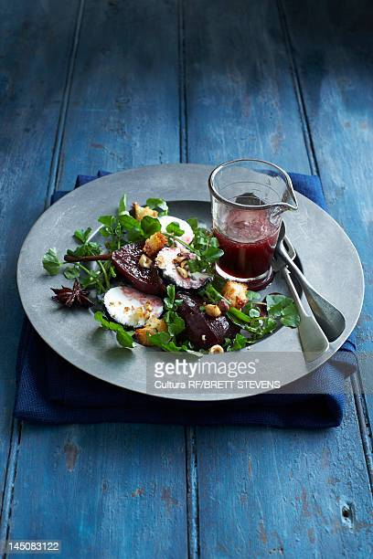 Plate of beetroot salad
